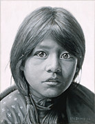 American Indian Paintings - Taos Girl by Stu Braks