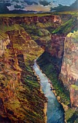 Grande Painting Framed Prints - Taos Gorge Framed Print by Chris  Easley