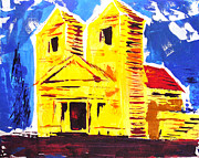 Evangelical Paintings - Taos Mission by Ronn Greer