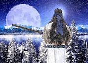 Taos Mountain Man Print by Roger D Hale