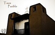 Taos Prints - Taos pueblo Church Print by Marilyn Hunt