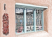 Ristra Mixed Media - Taos Window by Kathleen Stephens