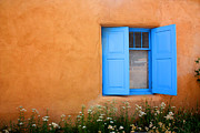 Earth Tone Photo Framed Prints - Taos Window V Framed Print by Lanita Williams