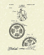 Brunello Posters - Tape Measure 1900 Patent Art Poster by Prior Art Design