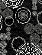 Black And White Abstract Art - Tapestry by Khristian Howell