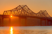 Hudson Valley Framed Prints - Tappan Zee Bridge at Sunset I Framed Print by Clarence Holmes