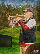 Ocala Painting Framed Prints - Taps For Troops Framed Print by Larry Whitler