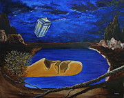 Dr Who Paintings - Tardis Face Plant by Stuart Engel