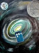 Dr Who Paintings - Tardis by John Lyes