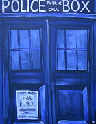 Time Lord Framed Prints - Tardis Framed Print by Lisa Leeman