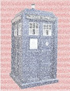 Tardis Digital Art - Tardis Quotes Mosaic by Paul Van Scott