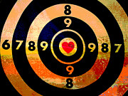 Amor Mixed Media - Target Love by AdSpice Studios