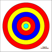 Op Art Painting Posters - Target Number 1 by D Perry Lawrence Poster by David Perry Lawrence