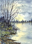 Great Britain Drawings - Tarn Lake Scotland by Carol Wisniewski