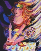 Tarot Paintings - Tarot Card Reader by Suzanne  Marie Leclair
