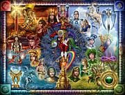 Astrological Signs Prints - Tarot of Dreams Print by Ciro Marchetti