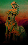 Sci-fi Pastels Framed Prints - Tarot The Chariot Framed Print by Eric Bakke