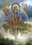 Rainbow Metal Prints - Tarot Town Metal Print by Ciro Marchetti