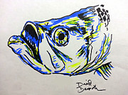 David Drawings - Tarpon Color Splash by David Danforth
