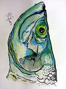 Tarpon Drawings Posters - Tarpon Smurk Poster by David Danforth