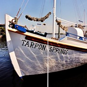 Greek Icon Posters - Tarpon Springs Spongeboat Poster by Benjamin Yeager