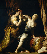 Famous Artists - Tarquin and Lucretia by Giuseppe Maria Crespi