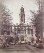 Tarrant County Courthouse Print by Joan Carroll