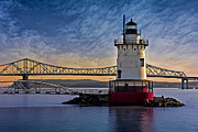 Skylines Metal Prints - Tarrytown Light Metal Print by Susan Candelario
