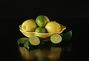 Tart And Tasty With Lemon And Lime Print by Inspired Nature Photography By Shelley Myke