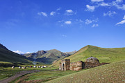 At-bashy Mountain Range Photos - Tash Rabat caravanserai in the Tash Rabat Valley of Kyrgyzstan  by Robert Preston