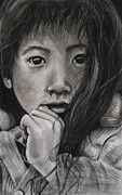 Street Pastels Originals - Tashi by Holly Hornyan