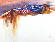 Indy Car Painting Framed Prints - Tasman Framed Print by Robert Hooper