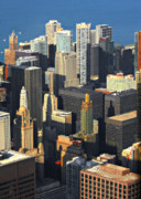 Unique Cityscape Framed Prints - Taste of Chicago from above Framed Print by Christine Till