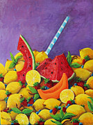 Las Vegas Artist Painting Framed Prints - Taste of Summer Framed Print by Julie Townsend