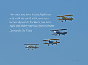 Stearman Prints - Tasting Flight Print by Jonathan E Whichard