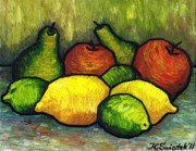 Polish Painters Paintings - Tasty Fruits by Kamil Swiatek