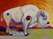 Surrealistic Paintings - Tatanka Ska  by Bob Coonts
