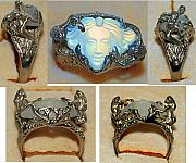 Nouveau Jewelry - Tatiana art nouveau mucha Lalique style face fairy ring by Michelle  Robison