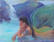 Waterfalls Paintings - Tatoo Fairy by Gwen Carroll