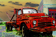 Rusted Cars Framed Prints - Tator Tow Mater Framed Print by Steven Bateson