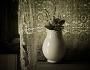 Lace Photo Metal Prints - Tattered Metal Print by Amy Weiss