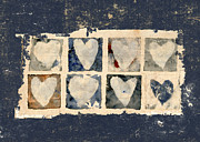 Tattered Hearts Print by Carol Leigh