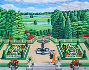 Stately Home Paintings - Tatton Park - Cheshire by Ronald Haber