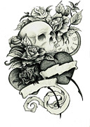Floral Drawings Originals - Tattoo by Tanya Bure