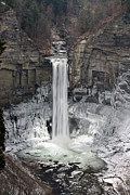 Finger Lake Framed Prints - Taughannock Falls Framed Print by David Simons