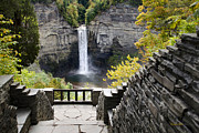 Finger Lakes Digital Art Posters - Taughannock Falls Overlook Poster by Christina Rollo