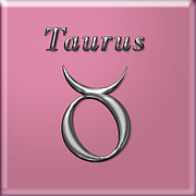 Francis Digital Art Posters - Taurus Poster by Fran Riley