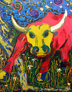 Zodiac Paintings - Taurus by Rick Carbonell