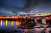 Praia De Faro Prints - Tavira At Night Print by Nigel Hamer
