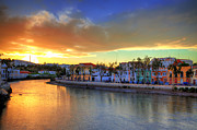 Praia De Faro Prints - Tavira Summer Sunset Print by Nigel Hamer